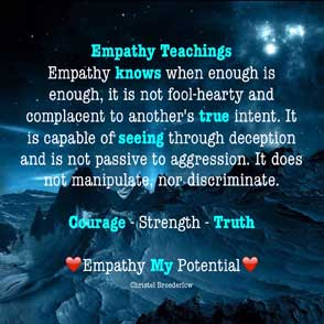 Empathy Quote Knows Truth Seeing Courage Strength